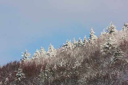 ridgeline in snow