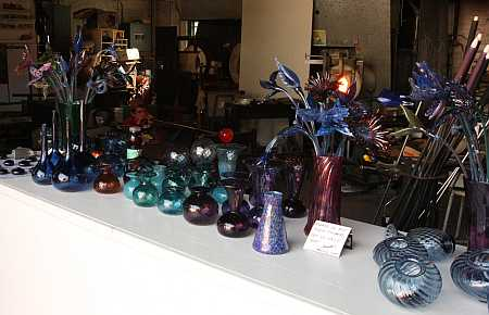 glass blowers' shop