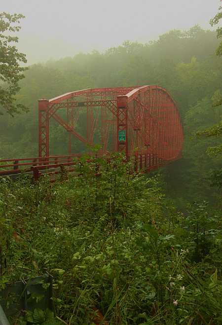 Bardwell's Ferry  Bridge in the rain