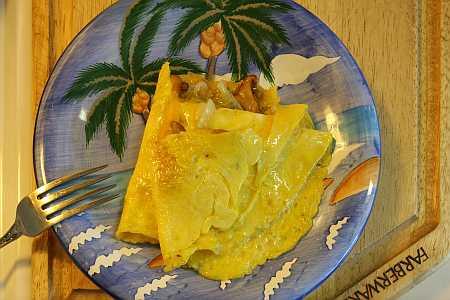chanterelle omelet